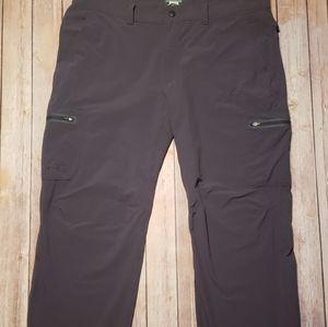 LL Bean Mens Cresta Hiking Pants Gray 40x32
